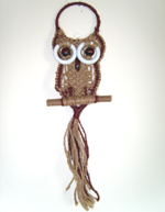 Miniature Long-tailed Spectacled Macramé Owl